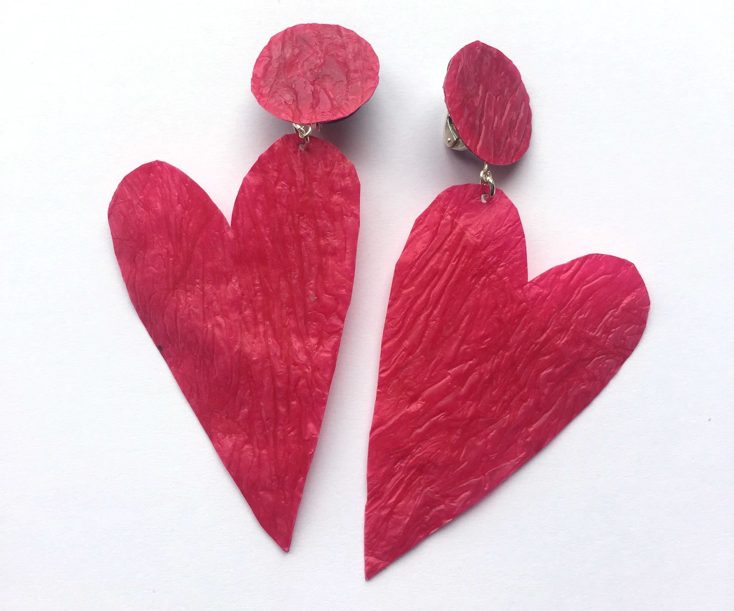 Valentines Day Heart Earrings