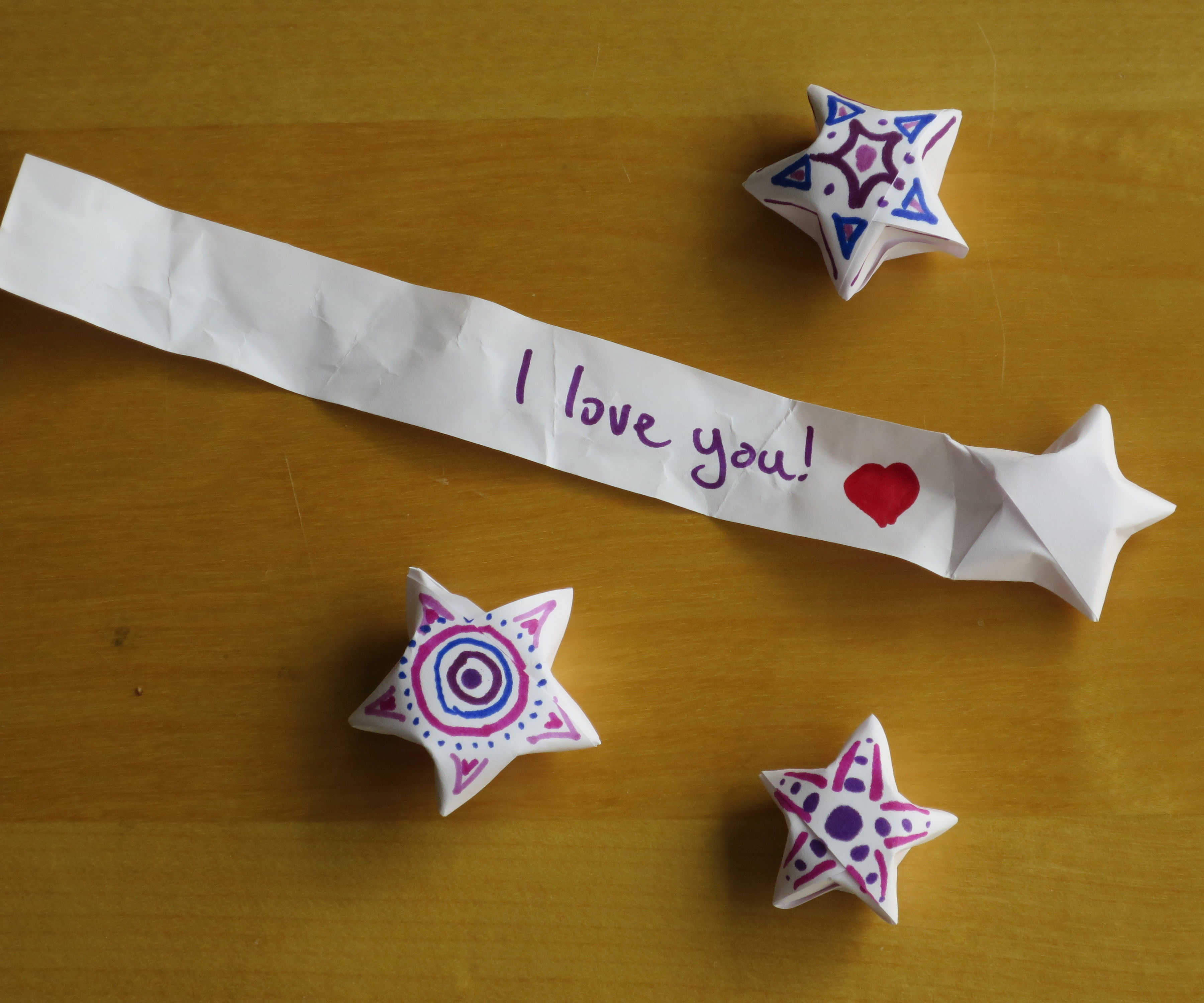 Star shaped love notes