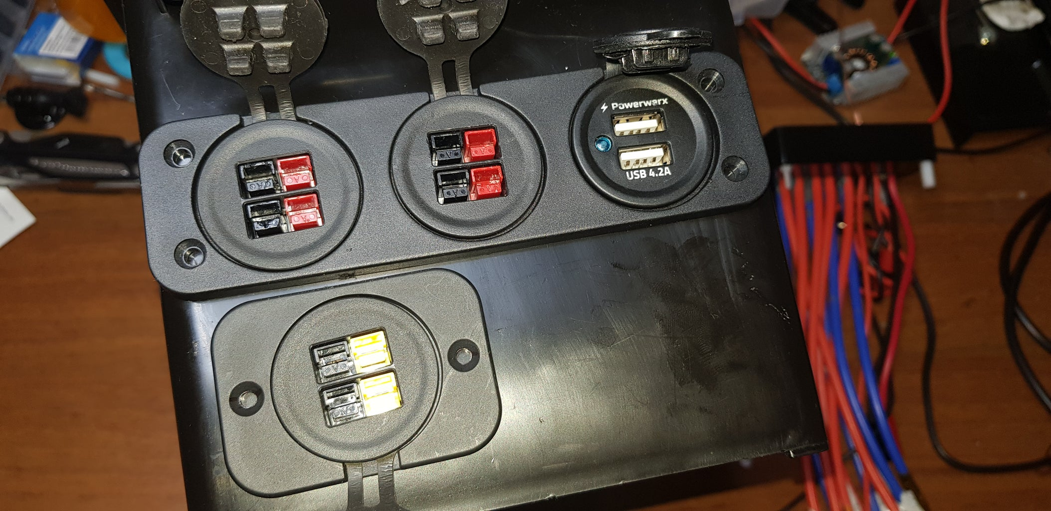 Wire the Fuse Box, 12 Volt and Usb Outputs