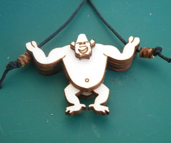 Climbing Gorilla Necklace