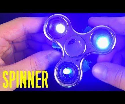 Hand Spinner Glow in the Dark & DIY LED Fidget Spinner
