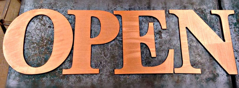 Finishes for the Letters and Base