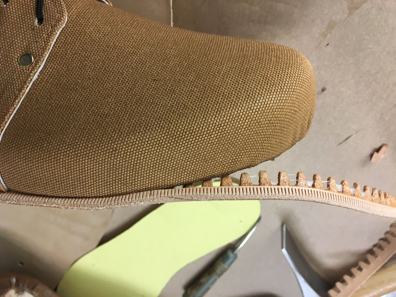 Attaching the Sole