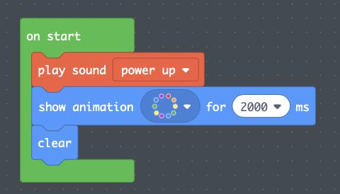 Step 3:  MakeCode for Battery Start-Up