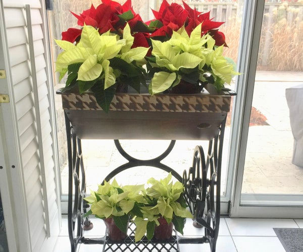 How to Turn a Sewing Base Into a Planter for Christmas