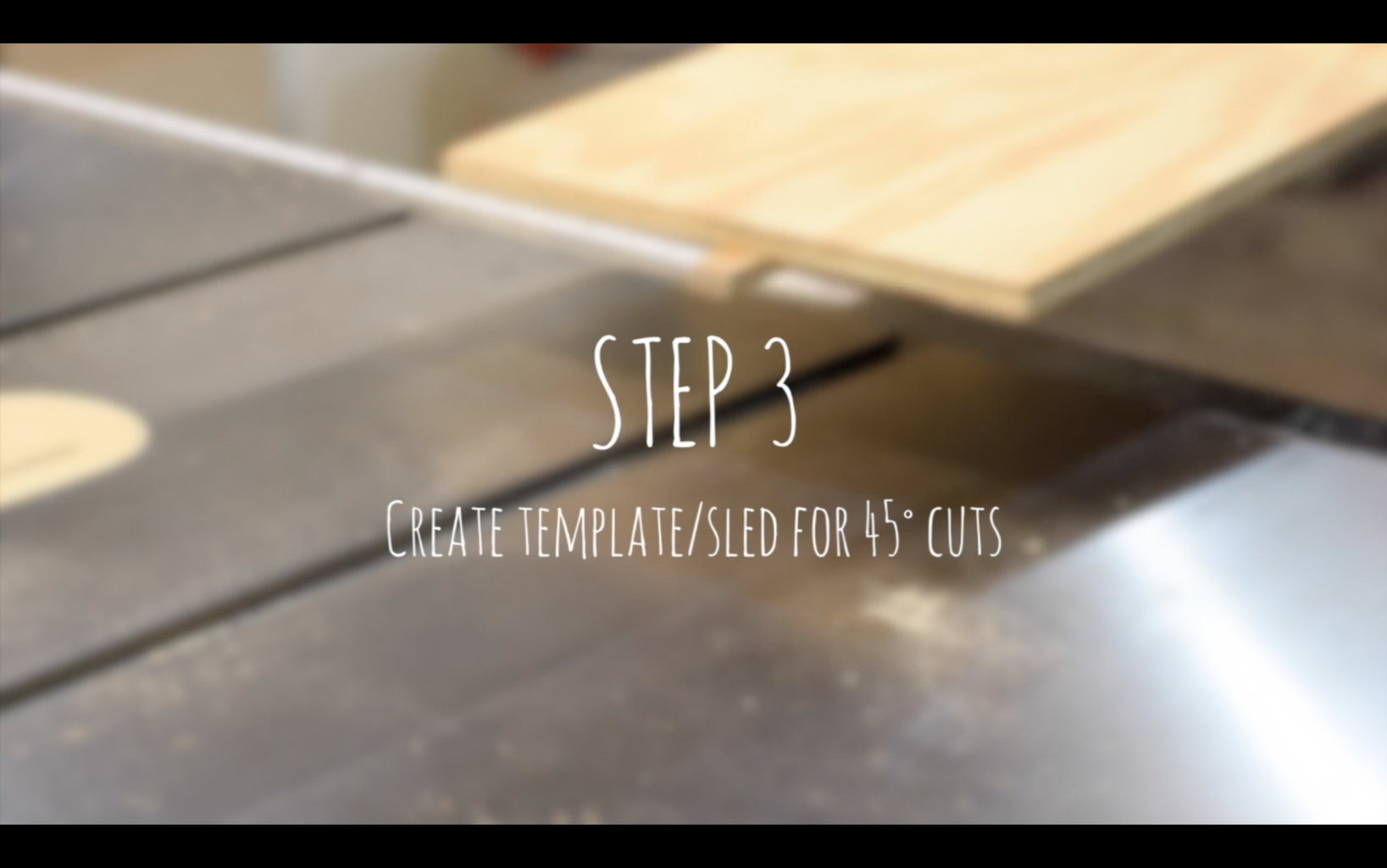 Creating a Template/sled for 45˚ Cuts