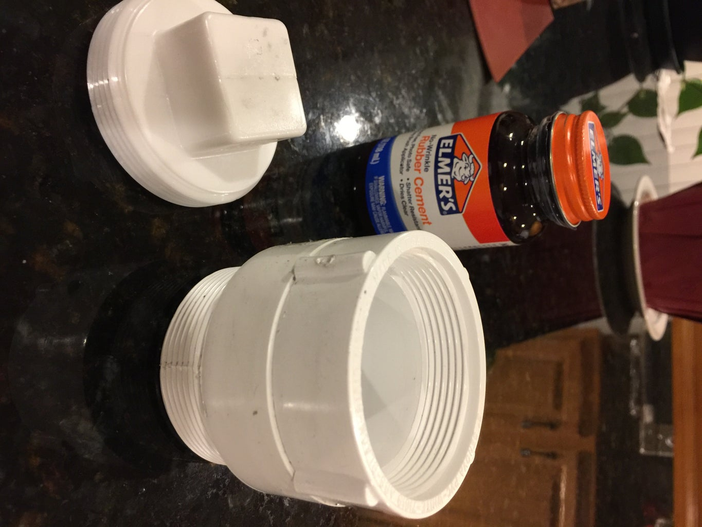 Rubber Cement Male and Female PVC Together