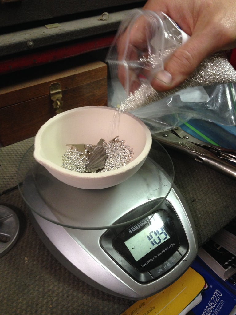 Step 11: Weigh the Silver