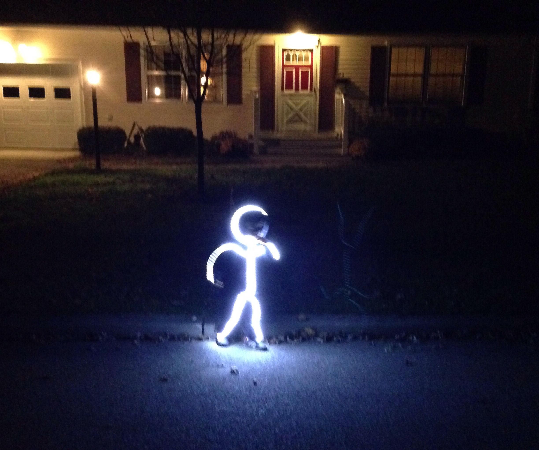 DIY LED Stick Figure Costume
