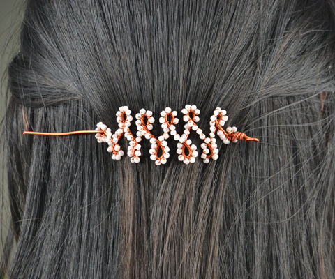 Make Beaded Hair Sticks out of Aluminum Wire