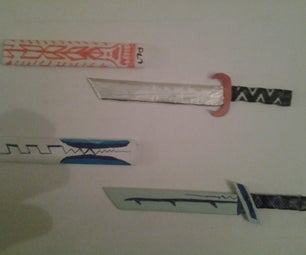 How to Make a Mini Sword (using Paper)