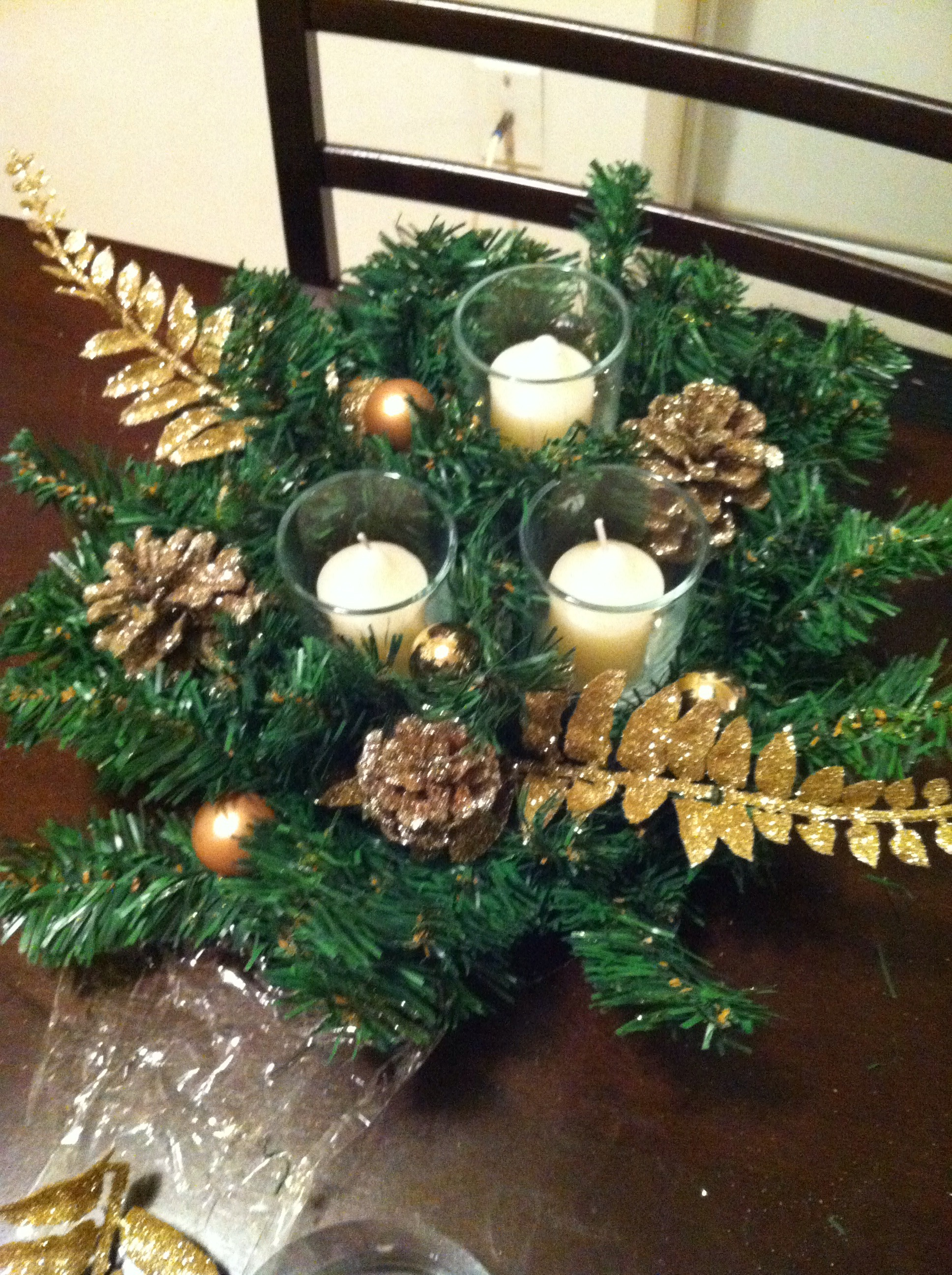 Festive Holiday Coffee Table Centerpiece