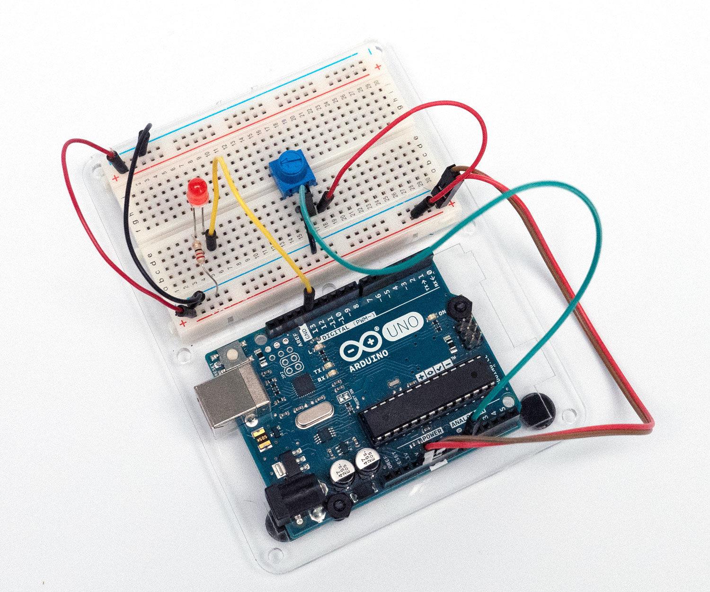 Arduino Potentiometer Analog Input Tinkercad