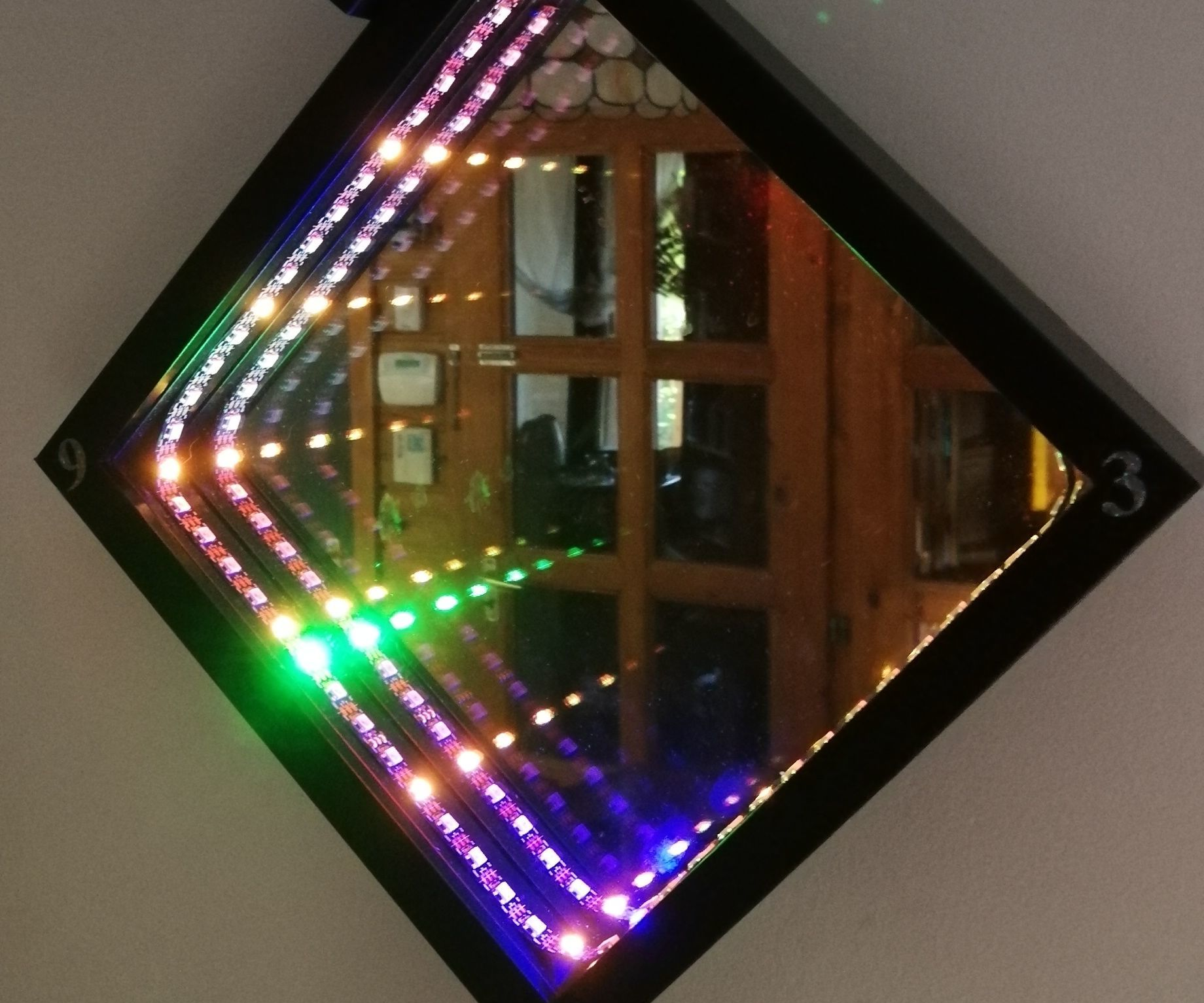 Infinity Mirror Wall Clock in IKEA Picture Frame