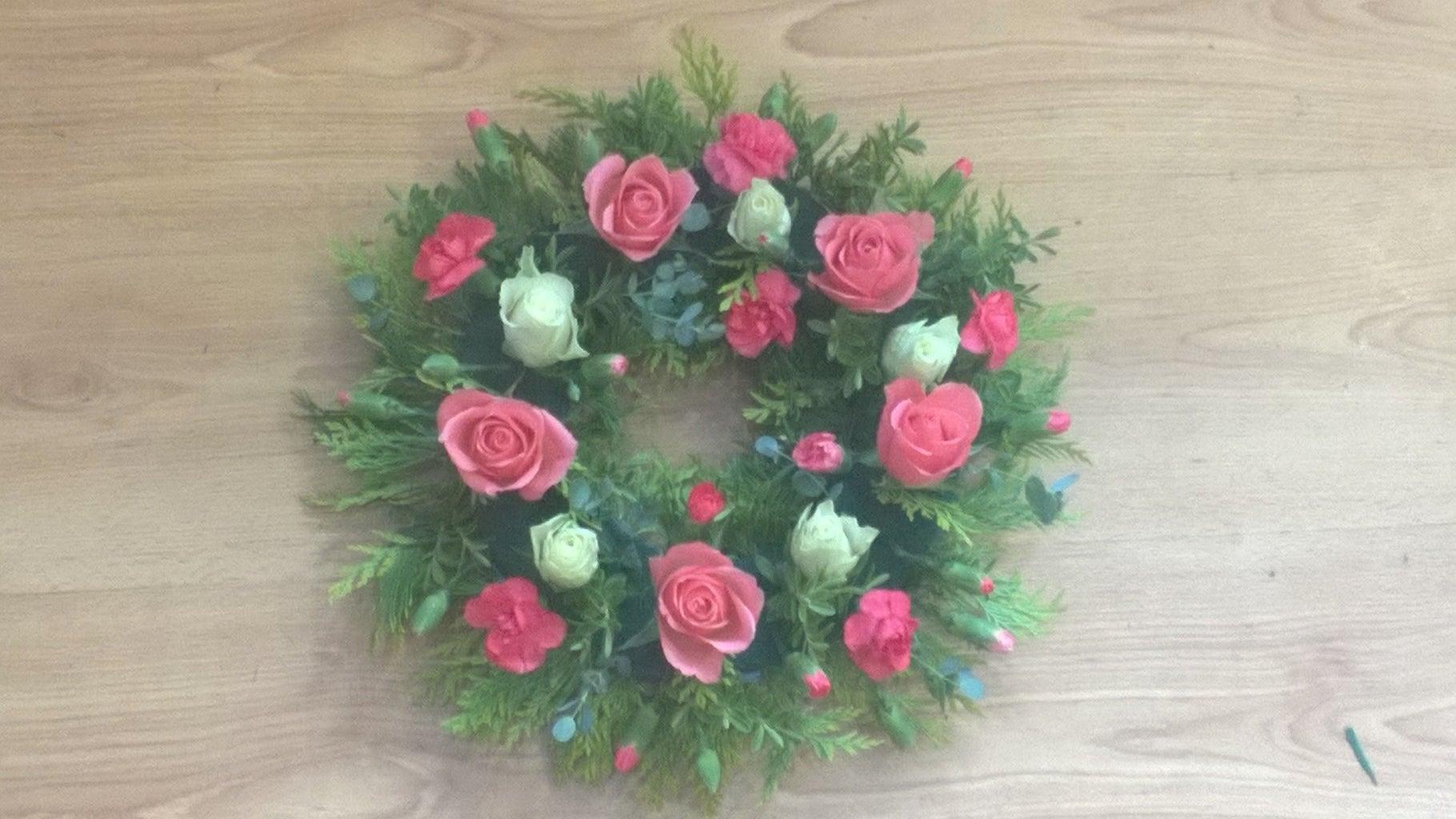 Adding the 5 Cream Roses