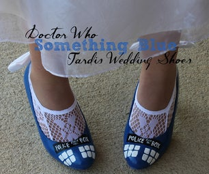 "Doctor Who ""Something Blue"" TARDIS Shoes!"