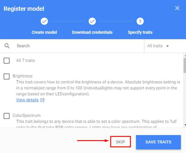 Actions on Google - Specify Traits: