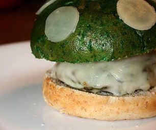 """""""1UP Mushroom"""" Mushroom Burger!"""