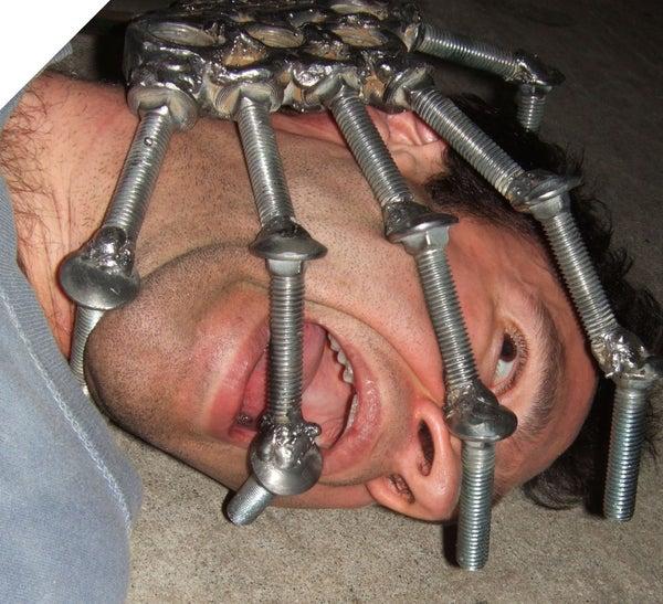 Giant Steel Skeleton Hand (and Coat Rack)