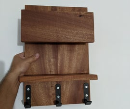 Entryway EDC Shelf W/ Letter Slot