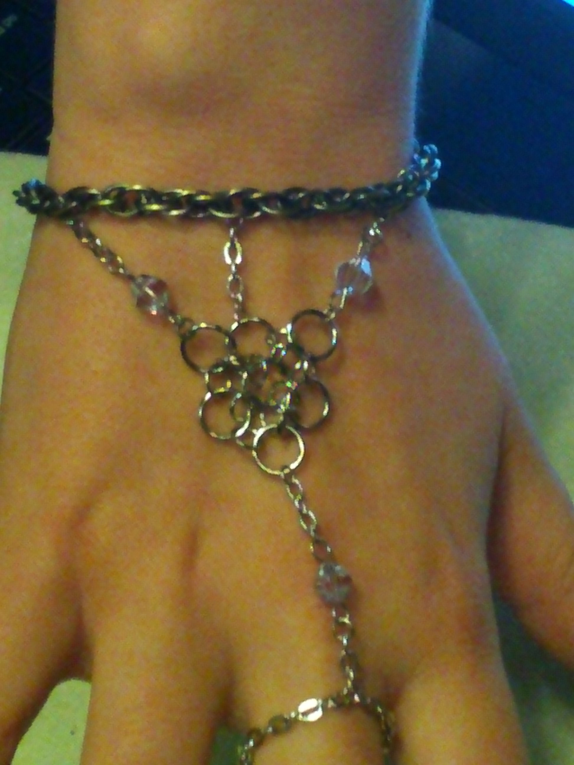 How to Make a Bracelet W/ Ring Attached