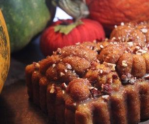 Gluten- Free Fresh Pumpkin Cheesecake Caramel Bread
