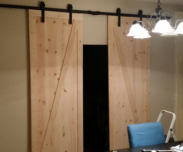 DIY Barn Doors on (somewhat) of a Budget
