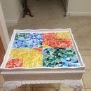 Mesa de mosaico de vidrieras