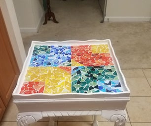 Stained Glass Mosaic Table
