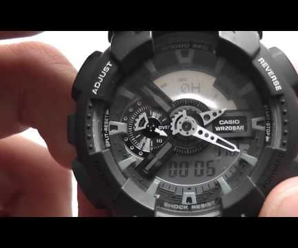 how to measure speed with a Casio G-shock