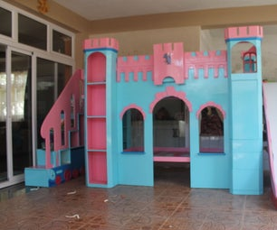 Castle Themed Bunk Bed with many features