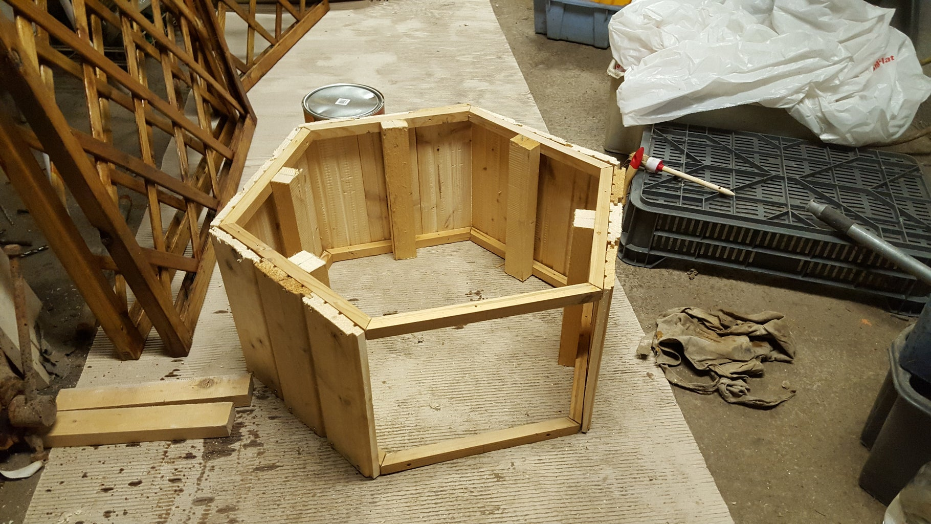 Step 3: Cover 5 Sides With Pine Wainscot