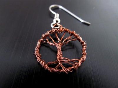 Micro Wire Tree Earrings