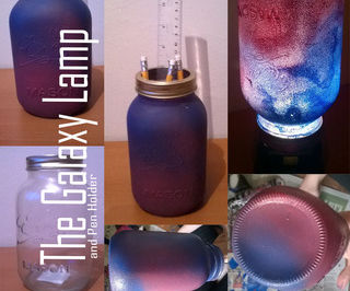 Galaxy Pencil Holder And Lamp