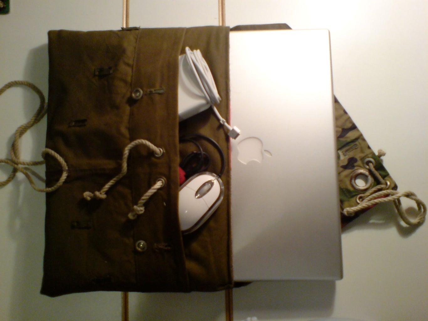 Laptop Sleeve Made Out of Some Used Military Fabrics