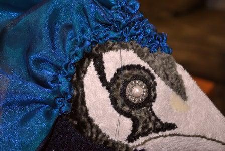Sparkly Peacock Topknots