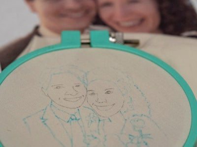 Trace Artwork and Stretch Fabric With Embroidery Hoop