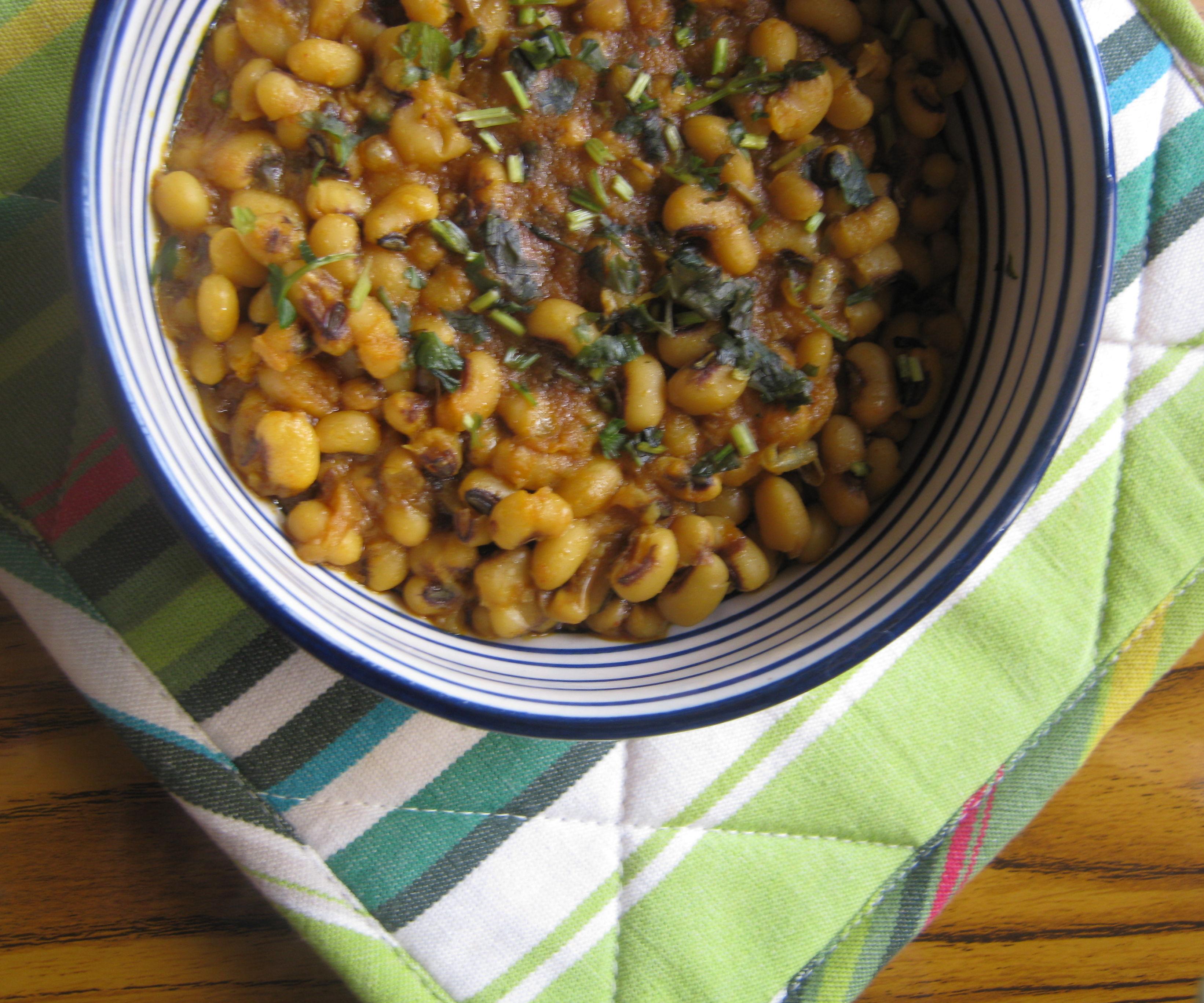 quick black eye beans rajma (curry)