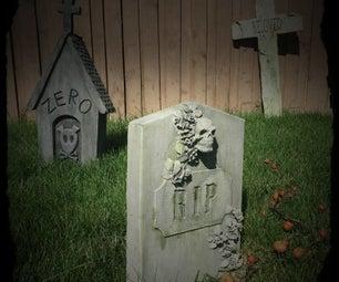Cardboard Gravestone