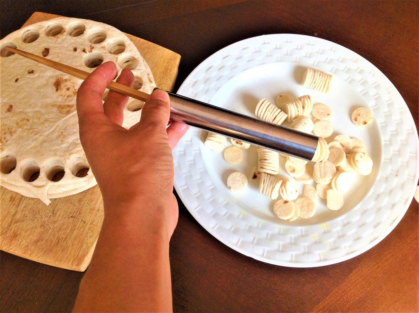 Make Flour Tortilla Coins/crackers