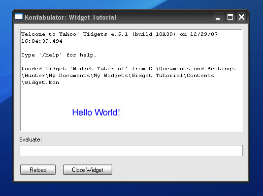Create your very own widget