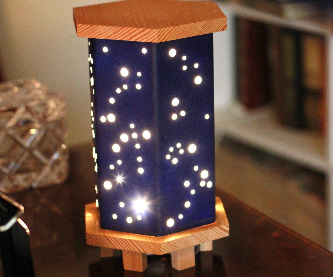 Magical Starry Night Light W/ Wood, Foamboard & Fairy Lights
