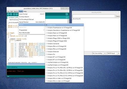 Uploading the Control Program to the Arduino