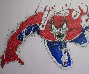 How to Draw Zombie Spiderman
