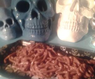 Creepy Crawly Halloween Jello Worms