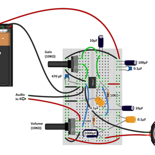 LM386 Amplifier With PCB