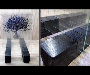 Layered Glass Art || 3d Glass Painting