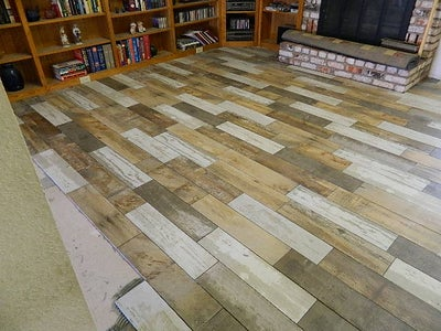How to - Lay a Reclaimed Wood Look Porcelain Floor Tile