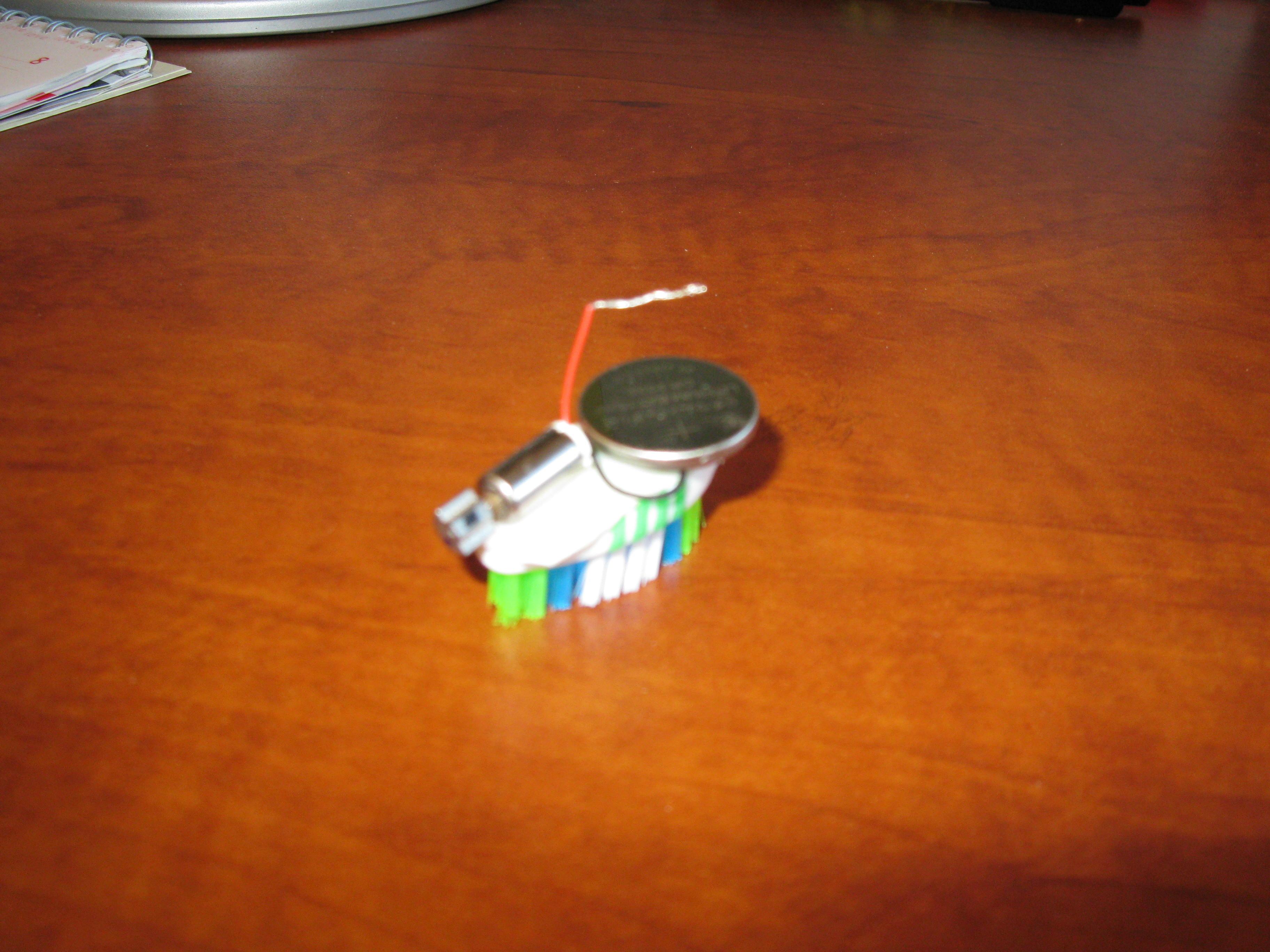 How to make a pocket-sized bristlebot