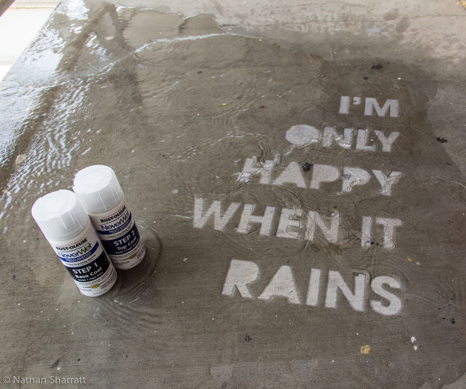 How to make Rain Drawings with NeverWet superhydrophobic coating